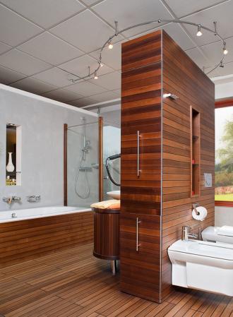 tischlerei walter holz im bad thermoholzboden im bad. Black Bedroom Furniture Sets. Home Design Ideas